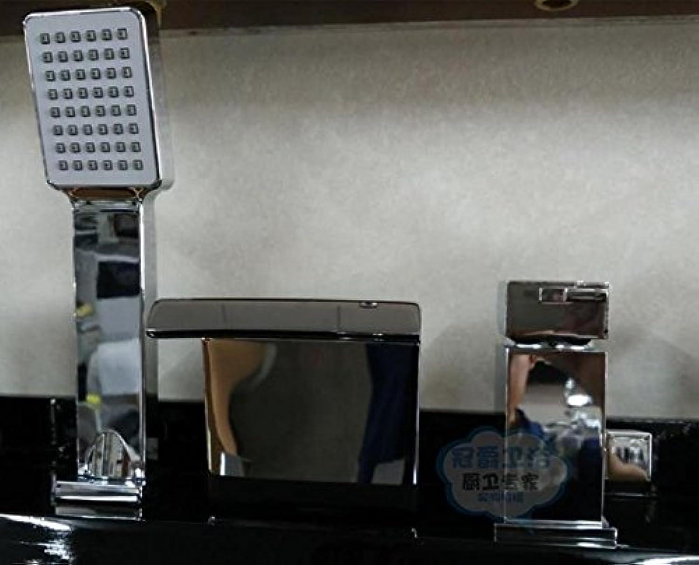 Gyps Faucet Waschtisch-Einhebelmischer Waschtischarmatur BadarmaturDas Kupfer Square, Hei- und Kaltwasser, Badewanne Split 3-Teilige Zylinder Vorderkante Sit-in Drei Bohrungen Wasserfall Armatur m