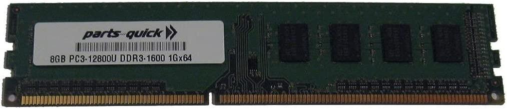 8GB DDR3 Memory for Biostar - A780L3C Ver. 7.0 Motherboard PC3-12800 1600MHz NON-ECC Desktop DIMM RAM Upgrade (PARTS-QUICK BRAND)