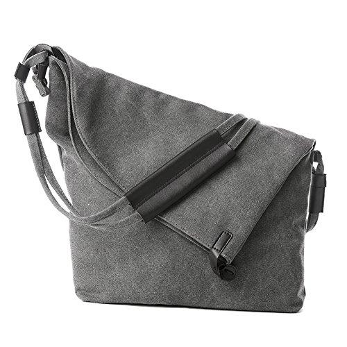 FunYoung Borsa a tracolla unisex tracolla vintage scelta del colore della tela Bag Mesenger Bag