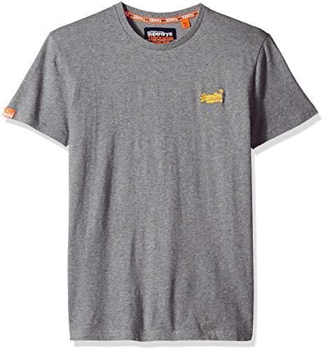 Superdry Men's Orange Label Vintage Embroidery Short Sleeve T-Shirt, Hyper NEP Grey, M