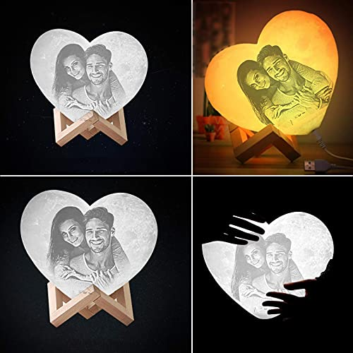 Custom Moon Lamp,3D Printing Personalized Moon Lamp with Picture...