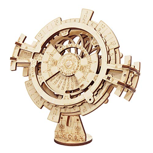 Rowood Mechanical Gear 3D Wooden Puzzle Craft Toy, Gift for Adults Her Him Age 14+, DIY Model Building Kits - Perpetual Calendar