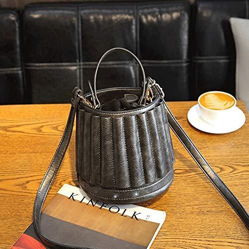 Jian E- schouderhandtas - PU, retro lantaarn tas persoonlijkheid handtas creatieve tafellamp schouder sessies vrouwelijke emmer tas - 5 kleuren optioneel, donkergrijs (grijs) - Jian E -18