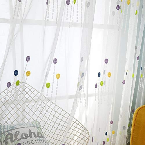 Photo de ballon-broderie-rideaux-voilage-enfants-rideaux-voile