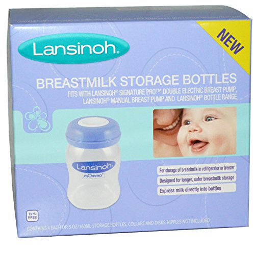 Best Lansinoh, Breastmilk Storage Bottles, 4 Bottles, 5 oz (160 ml) Each, ( 2 PACK), Now Foods, 3 in 1 Sports Shaker Bottle, 25 oz BUNDLE