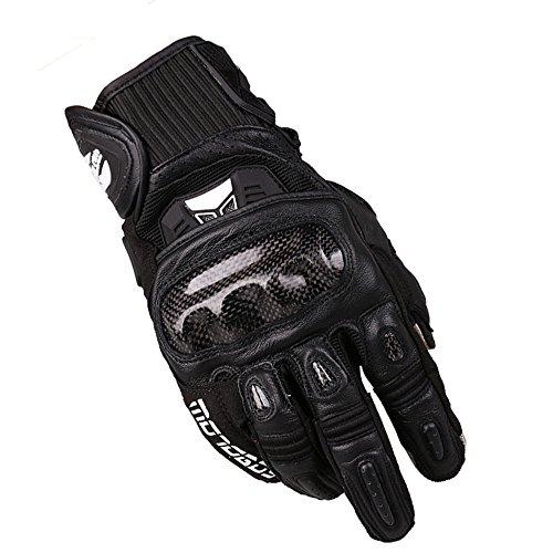 LBYMYB Motorrad-Motorradhandschuhe Aus Motocross-Kohlefaser Für Rennfahrer Handschuh (Color : Black, Size : XXL)