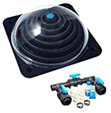 well2wellness® Pool Solarheizung Poolheizung Solar 'Powerkugel' Plus Bypass-Set Basic