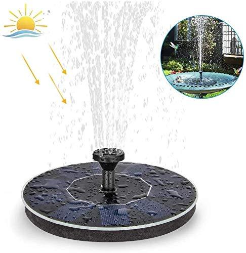 HYCQ Solarbrunnen-Pumpe, Solargarten-Brunnen Wasser-Eigenschaft Teichpumpe, Integriertes Speicherbatterie für Garten