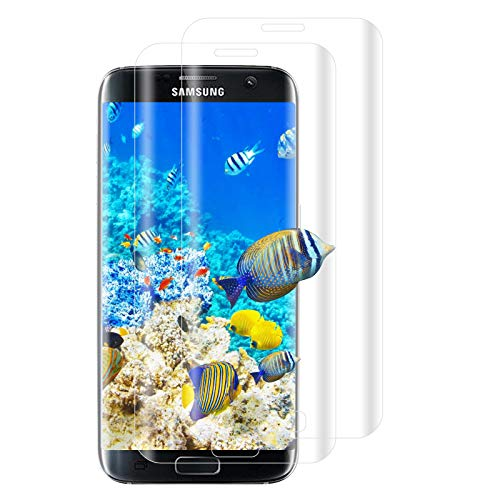 [2 Pezzi] Pellicola Protettiva Compatibile Con Samsung Galaxy S7 Edge, HD, Durezza 9H, Ultra Trasparente, Anti Bolle D'aria, Pellicola Protettiva per Samsung Galaxy S7 Edge (Trasparente)