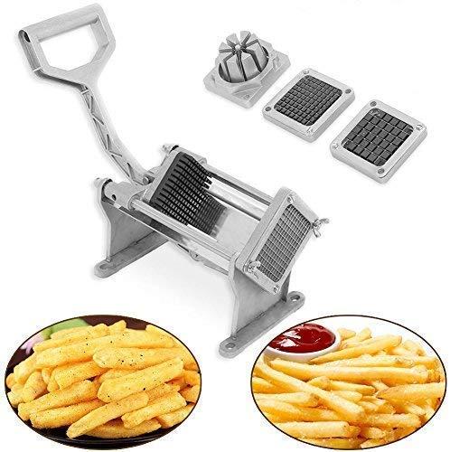 Pommes-Frittierschneider, 1-teilig, Edelstahl, Kartoffelschneider, Obst, Gemüse, Frittieren, Frittieren, Werkzeug W / 4 Klingen