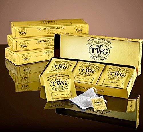 シンガポールの高級紅茶TWGシリーズ(Classic Teabag Selection 3種類×5パック ) ENGLISH BREAKFAST,FRENCH EARL GRAY,CHAMOMILE)並行輸入品の写真
