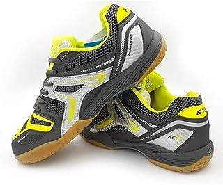 Yonex AllEngland X Non-Marking Professional Badminton Shoes, Grey/Neon Lime/Silver - 9.5 UK