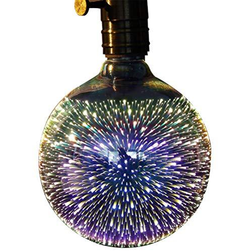 kylew Firework LED Light Bulb for Ambient Night Lighting, E27 Standard Base Edison with Starry Decorative String Lights for Bathroom, Bedroom, Living Room