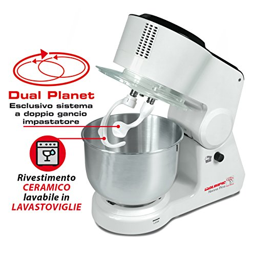 OLIMPIC - Impastatrice Esclusivo DOPPIO Movimento Planetario 600 W