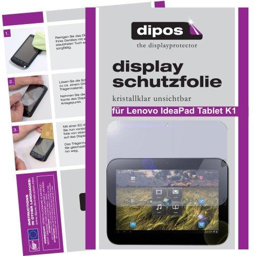 Dipos Crystalclear Protector de pantalla compatible con Lenovo IdeaPad Tablet K1