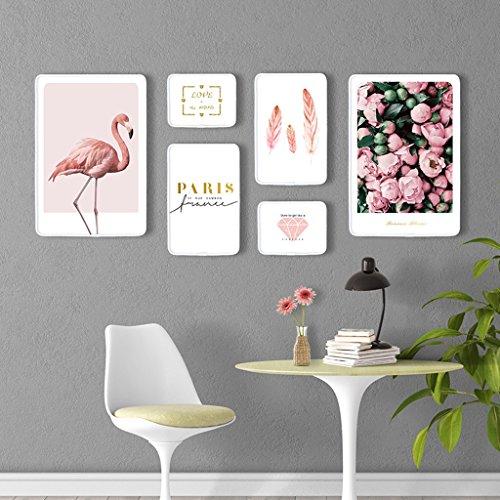 Ensemble de cadre photo, 5 Set Collage de cadres photo, combinaison créative, en bois massif (Couleur : B)