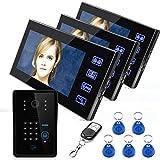 Drahtloses intelligentes Bildtelefon Freisprecheinrichtung Türklingel Security-Überwachung Zugangskontrollsystem RFID-Passwort 7 Zoll