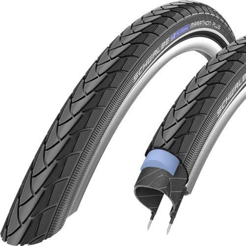 SCHWALBE Marathon Plus HS 348 Road Bike Tire (20x1.35, Allround Wire Beaded, Reflex)
