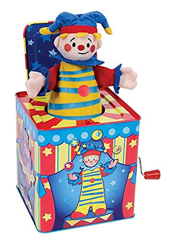 Schylling Silly Circus Clown Jack in The Box Musical Classic Toy Pop Goes The Weasel (Pop Goes The Weasel Jack In The Box)