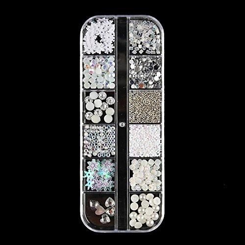 lzn 1 Box Nail Art Strass Glitter 3D N?gel Tipps Schmuck Edelsteine Fingernagel Studs Crystal Beads Decor