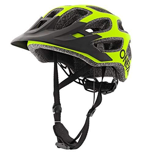 O'NEAL | Fahrradhelm Mountainbike | MTB Downhill Freeride | All-Mountain-/Enduro-Helm, einstellbare Passform | Thunderball Helmet Solid | Erwachsene | Neon-Gelb | Größe XXS/52-M/57