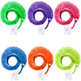UNIME 12 Pack Magic Worm Toys Wiggly Twisty Fuzzy Worm Trick Toys Carnival Party Favors,6 Colors Product Name