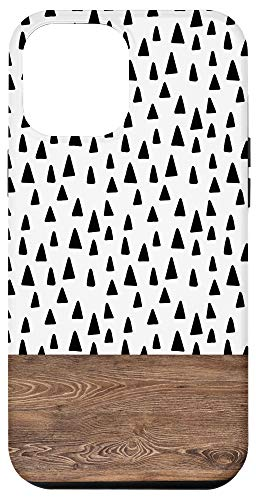 iPhone 12 Pro Max Boho Chic Polka Dot Triangle Pattern Minimalistic Geometric Case