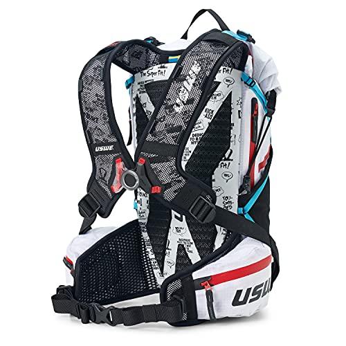 USWE Hajker Pro 18L, zaino da trekking, leggero avventura zaino con rolltop impermeabile, per bici, Speed Hiking, alpinismo, per uomini e donne, bianco