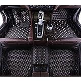 QWERQF Alfombrillas de Suelo de Coche Personalizadas Alfombra de pie de Suelo de Coche Alfombra de Estilo de Coche,para Aston Martin Virage Vantage DB9 V12 DBS Vanquish Rapide 2013-2019 Marrón