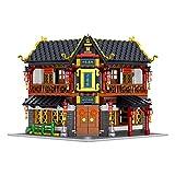 LALAmi Modelo de arquitectura del palacio de 2529 piezas, serie clásica china de calle Yongchun Tang, clínica, modelo arquitectónico, kit de construcción, edificios modulares compatibles con Lego