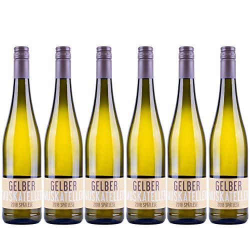 """Nehrbaß - """"Gelber Muskateller 2018"""" - Weißwein lieblich 6 x á 0,75 Liter - Spätlese - Vegan - Aus Deutschland (Rheinhessen) - mit Schraubverschluss - Gewinner der silbernen Kammerpreismünze"""