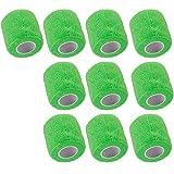 Mintice 10 X vendaje autoadhesivo vendajes cohesivos fuerte elástico cinta de primeros auxilios color de verde para muñeca tobillo deporte Los 4.5mx5cm