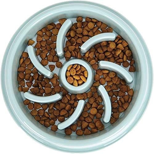 WWXX Comedero Perro Gato,Lento Cuenco De Perro De Alimentación Comedero Antivoracidad For Perros De Comida For Mascota (Color : Blue)