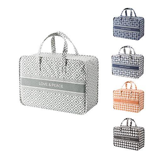 Bolsa de viaje de nueva moda Bolsa de almacenamiento de gran capacidad Ropa de bolso de acabado Bolsa de algodón grande bolsa de equipaje Movimiento