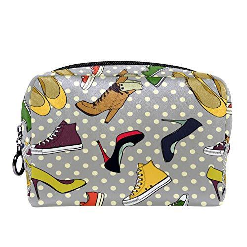 TIZORAX Hill Schoenen En Sneakers Make-up Bag Toilettas voor Vrouwen Skincare Cosmetische Handy Pouch Rits Handtas
