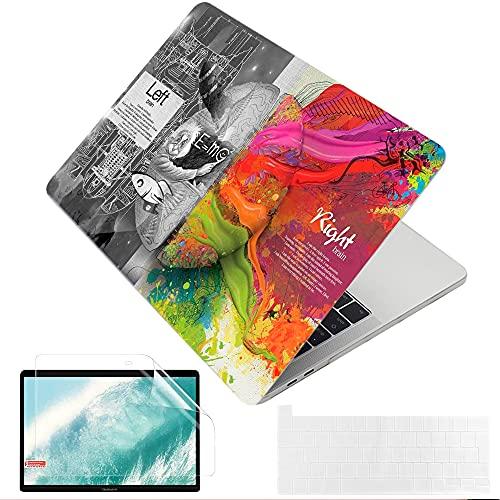 """MUSHUI 4 in 1 Custodia per MacBook Pro 13 pollici 2020 –2016 (Modello: A2338 M1 A2289 A2251 A2159 A1989 A1706 A1708) morbida Case Cover & Tastiera Cover per Mac Pro 13"""", Cervello Creativo 1"""