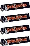 Toblerone : Swiss Dark Chocolate with Honey & Almond Nougat Bar (Pack of 4 Bars Each 100g/3.5 oz)