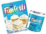 Pillsbury Funfetti Premium Cake & Cupcake Mix with Frosting Bundle (Aqua Blue Vanilla)
