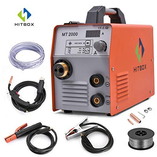 ARC Welder 200A Stick DC 220V Inversor M/áquina de soldadura MMA200 ZX7 Rod Stick Soldadora port/átil Paquete completo listo para usar HITBOX