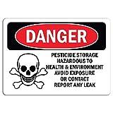 Gefahrenschild – Pestizide Aufbewahrung Gefahrenaufkleber, Warnaufkleber, Schild, Hausdeko, Fenster, Auto, Gefahrenschild, Sicherheitshinweise verschließbar, 20,3 x 30,5 cm
