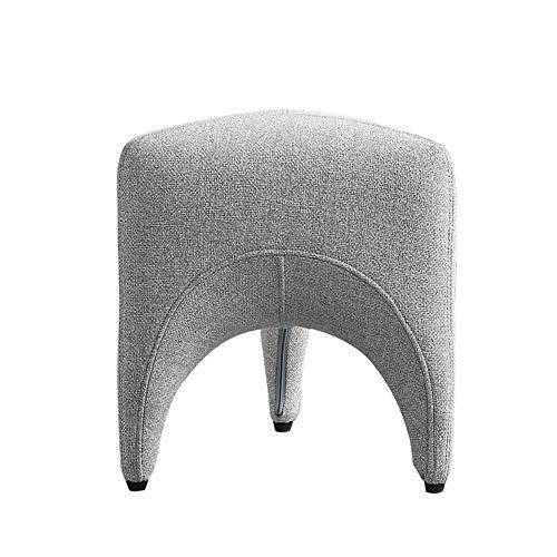 LEFJDNGB Algodón Interior y del paño de Lino Creativo de Dientes en Forma de heces de la Sala de Zapatos Sofá Stool Taburete Lindo reposapiés Pie de Soporte de Asiento (Color : Gray)