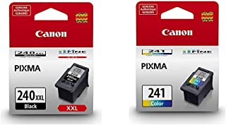 Canon PG-240 XXL Black Ink Cartridge Compatible to MG2120, MG3120, MG4120, MX432 & CL-241 Color Ink Cartridge Compatible t...