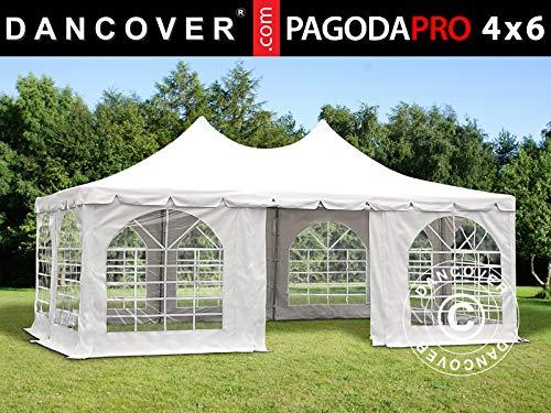Dancover Partyzelt Pavillon Festzelt Pagoda PRO 4x6m, PVC