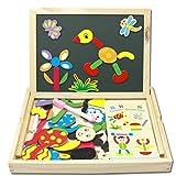 Fenteer Magnetic Doodle Pad Zeichenbrett für Kinder Kleinkinder Löschbare Magnet Skizze Zeichenblock Pädagogisches Lernspielzeug Geschenke Jungen Mädchen Alter von 3 4 5 6