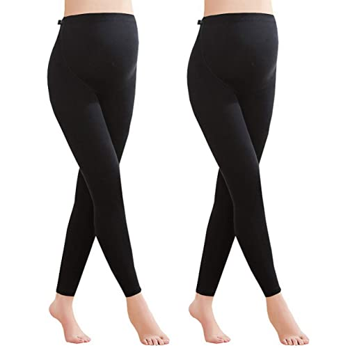 85d9b5058dc0c Foucome Women's Over The Belly Super Soft Support Maternity Leggings