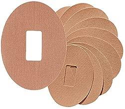 JIANGfu 10 Parches Adhesivos, para G4 G5 Parche Adhesivo Impermeable de látex Adhesivo hipoalergénico Compatible con Sensor Dexcom G6, Color Beige