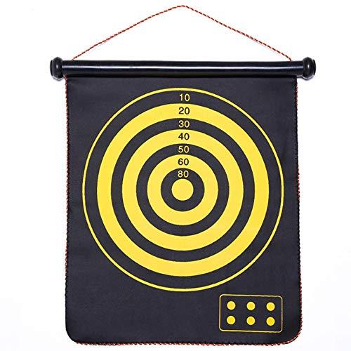 XHLLX Tablero De Dardos, Suspensión Dartes De Doble Cara Tablero De Ocio Juego Bullseye Adult Dart Board, Fácil De Enrollar, Usado para Niños Adulto