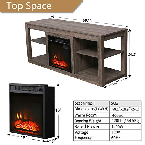 Electric Fireplace TV Stand 70 inch Corner Fireplace Review