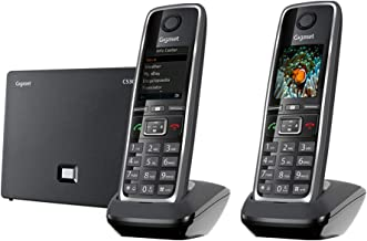 $159 » Gigaset C530 IP Duo – Cordless VoIP Phone with 1 Additional Handset with Intercom Function, Portable Telephone for Small B...