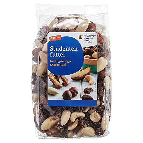 tegut... Studentenfutter Nussmischung mit Rosinen - Großpackung 2kg 5er Pack 400 g - Cashewkerne...